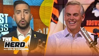 Nick Wright joins Colin Cowherd to talk Aaron Rodgers, Patriots and Cam Newton | NFL | THE HERD