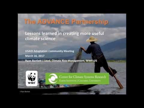 USAID ACM: ADVANCE - Adaptation for Development and Conservation: Lessons learned from the field