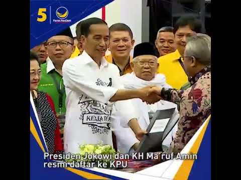 Keunikan saat Joko Widodo dan KH Ma'ruf Amin mendaftarkan diri ke KPU