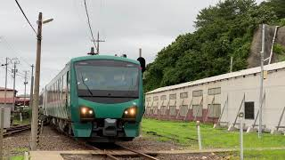 JR東日本 HB-E300系(橅編成) 五能線@深浦駅
