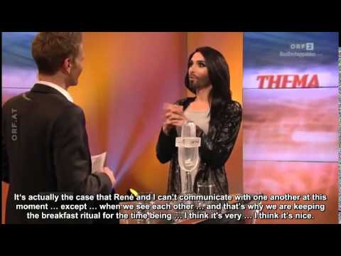 Thema with Conchita Wurst, 12.05.2014 (english subtitles)