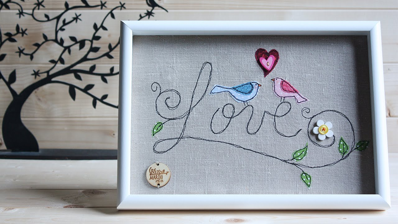 Tutorial Freehand Machine Embroidery ITA  YouTube