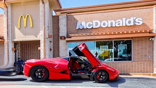 Drive Thru in $4,000,000 La Ferrari! (Funny Reactions)