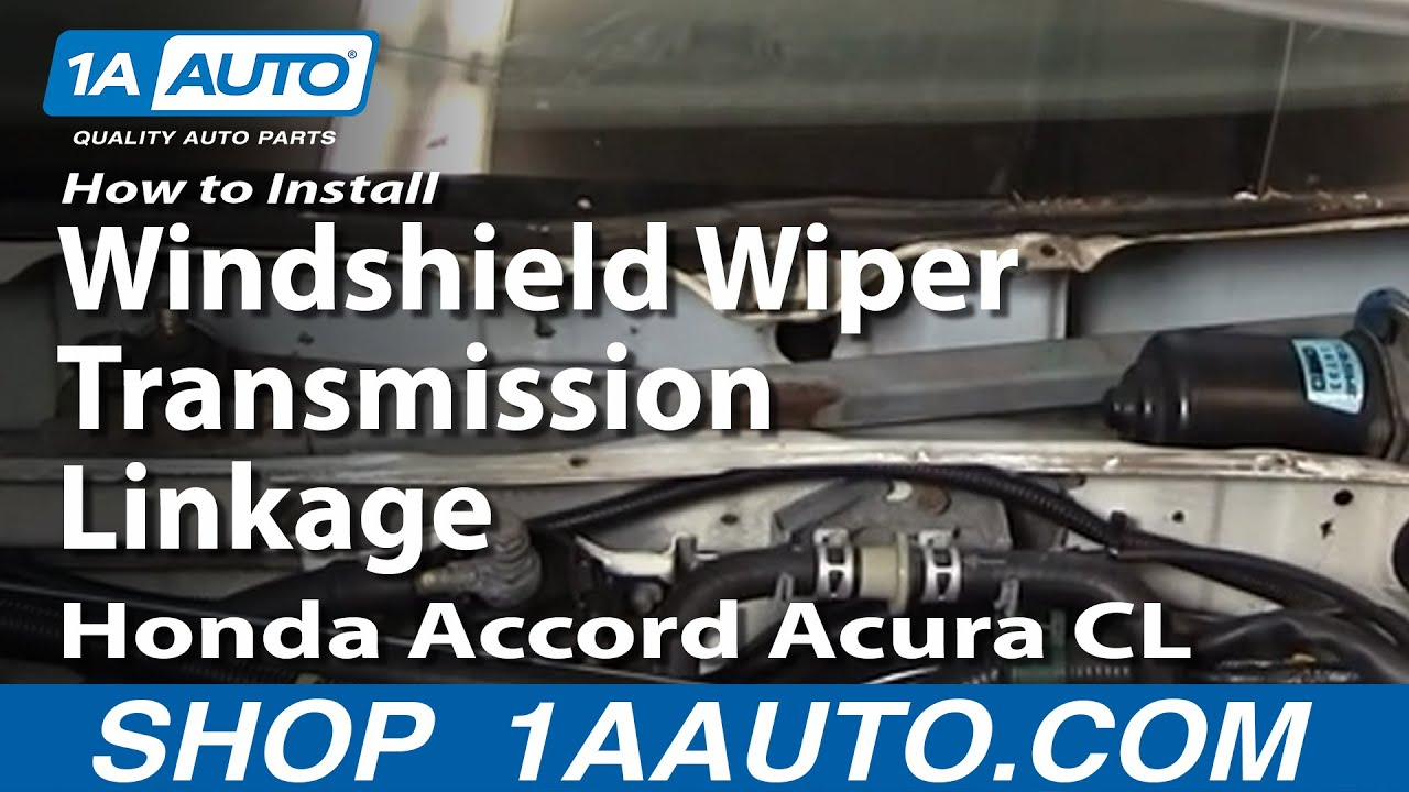 how to install replace windshield wiper transmission linkage honda