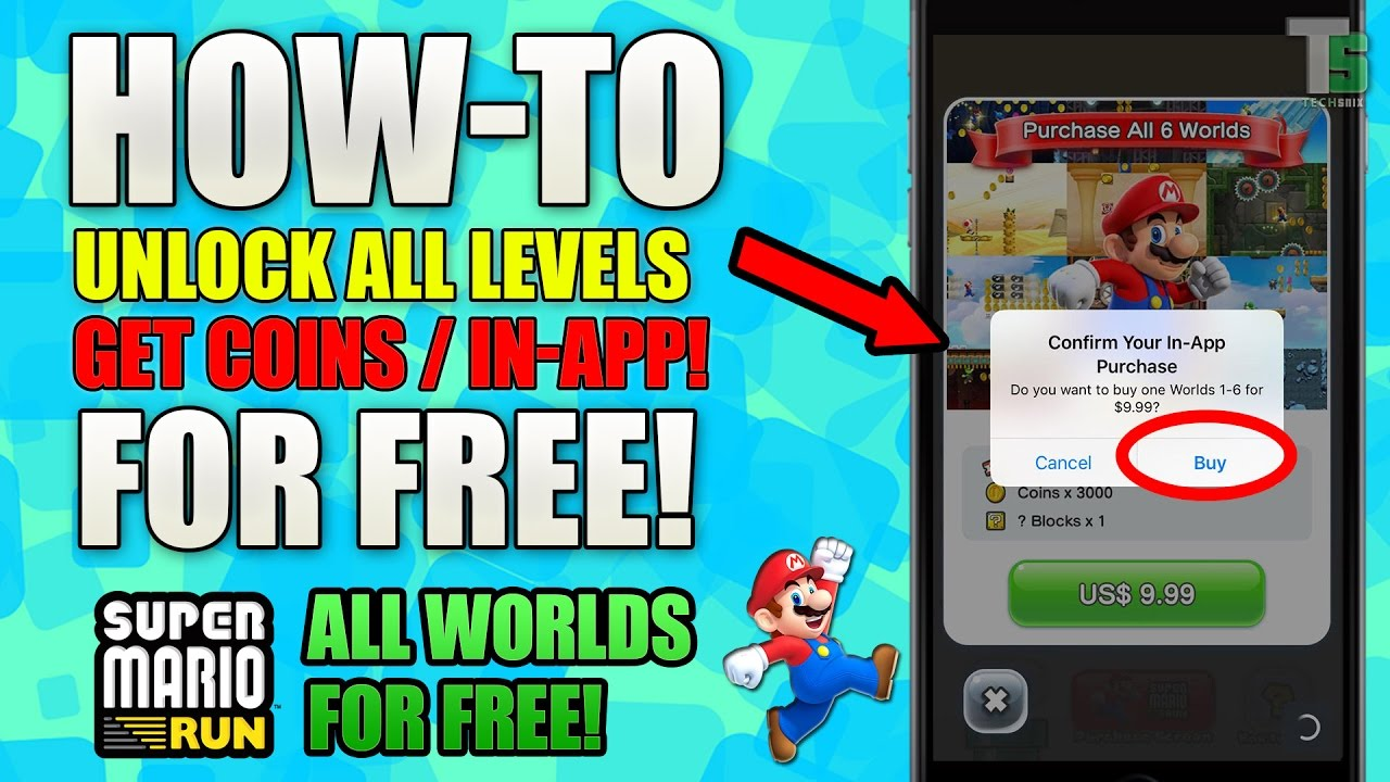 Super Mario Run FREE ALL Levels (Android & iOS) | Unlock All Levels (FULL  VERSION)| NO HACK!