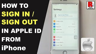 How To Sign In / Sign Out In Apple ID From iPhone