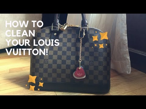 How to Remove White Scuff Marks from Damier Ebene   Cleaning Louis Vuitton Canvas or Treated Leather