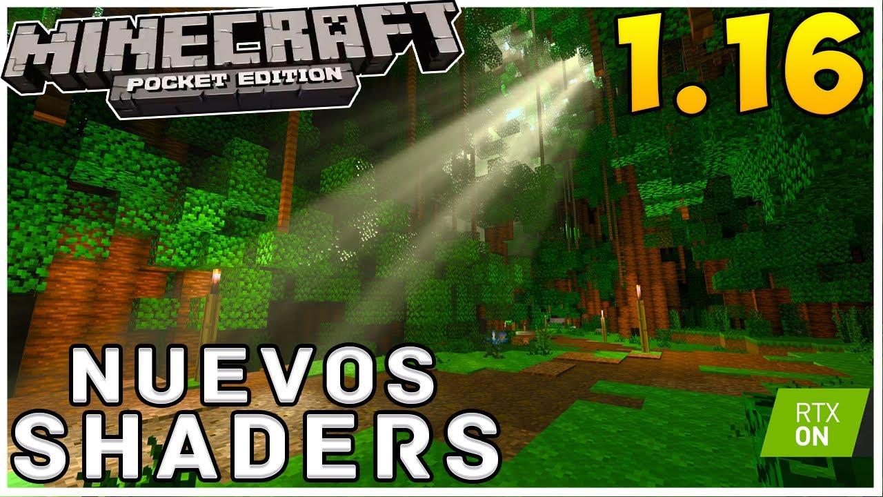 EL MEJOR SHADER Para Minecraft PE 1.16 - SHADERS REALISTA RTX - MINECRAFT PE