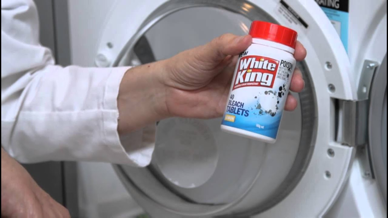 How To Clean Your Washing Machine White King Bleach Tablets