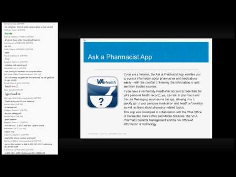VA Mobile Discussion Series Ask a Pharmacist
