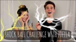 Shock Ball Challenge With Zoella! | ThatcherJoe