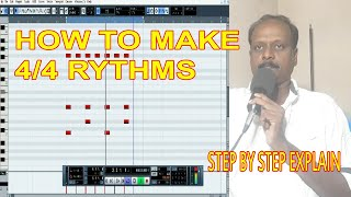 HOW TO MAKE DRUM BEATS / CUBASE 5 / MY MUSIC MASTER / TAMIL