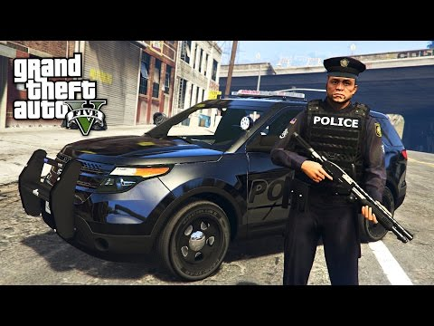 GTA 5 Mods - PLAY AS A COP MOD!! GTA 5 BEST COP EVER LSPDFR
