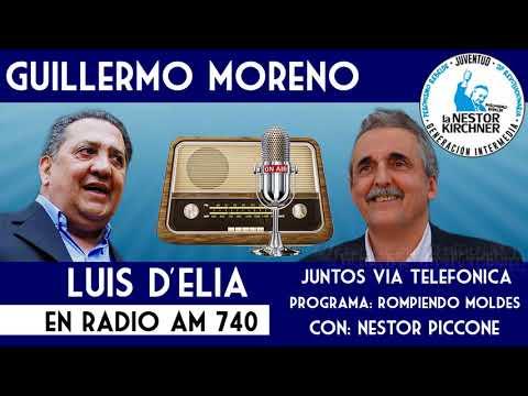 Guillermo Moreno y Luis D´Elia juntos en AM 740 13/01/18