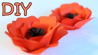 DIY Paper Poppy Flower - How To Make A Poppy From Paper