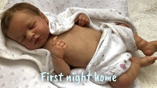 Reborn Baby Lola's First Day Home| Reborn Feeding🍼+ Changing + Bathing 🛁