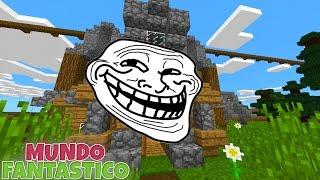 QUE TROLADA RUIM ! O Mundo Fantástico #18 - Minecraft Pocket Edition Realms !