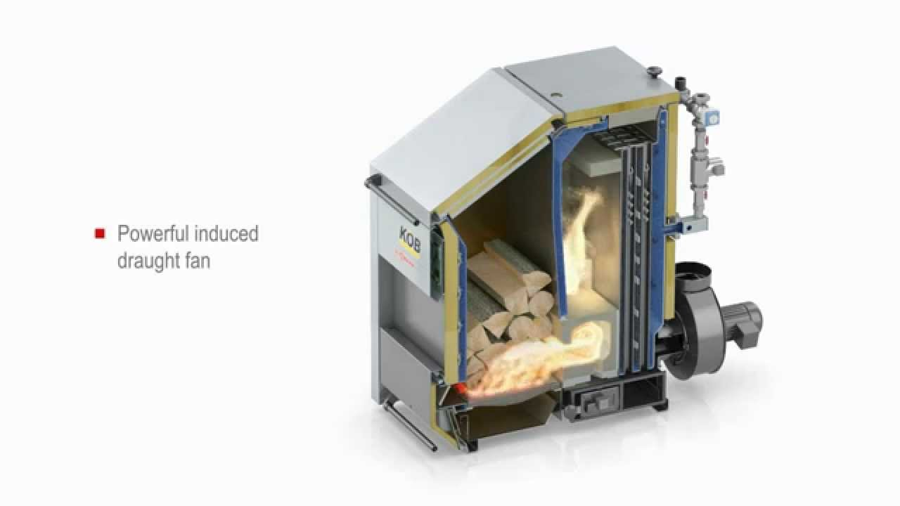 KOB Pyromat ECO gasification boiler, by Spark Energy - YouTube