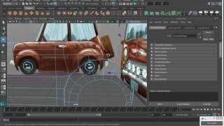 MAYA урок Моделирование мультяшного автомобиля часть 2