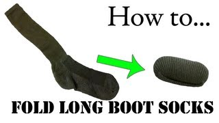 How to Fold Green Boot Socks (Single Roll) - Army Ranger Roll Tutorial