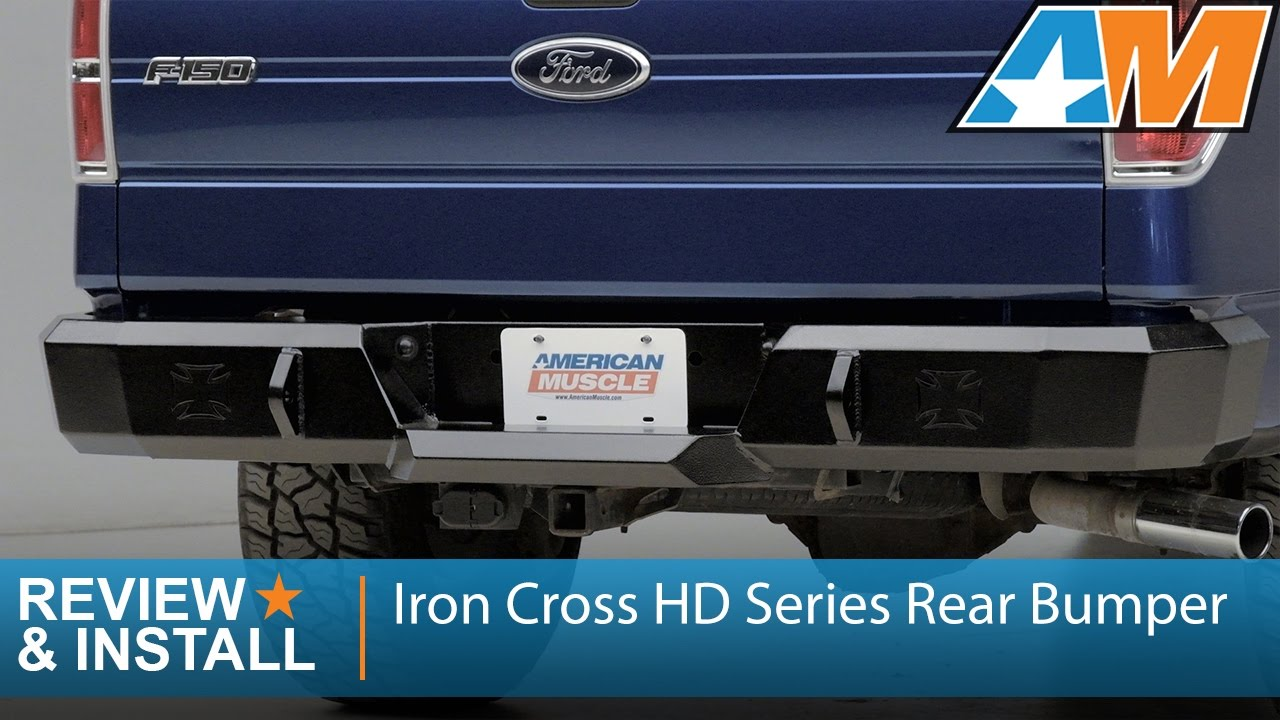 medium resolution of 2009 2014 ford f 150 iron cross hd series rear bumper review install youtube