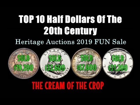 TOP 10 Half Dollars Of The 20th Century Sold On Heritage Auctions 2019 FUN Sale