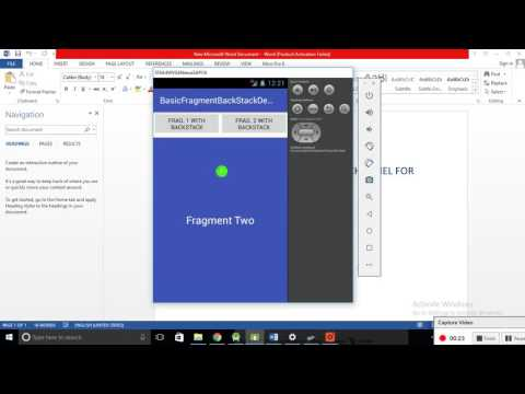 Android Fragments BackStack Tutorial With Example Programmatically