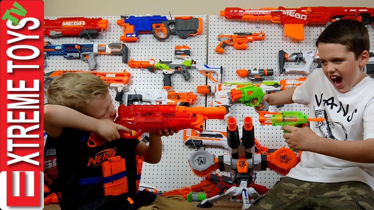 Nerf Gun Arsenal Full Nerf Gun Toy Arse...