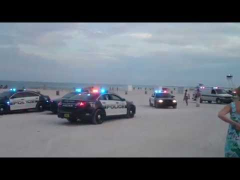 Miami police in action florida beach