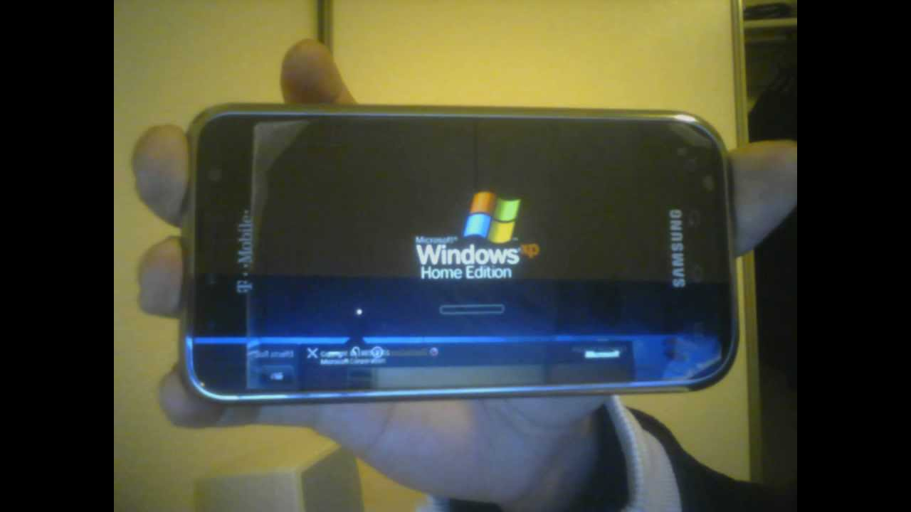 Windows XP on Samsung Galaxy S  YouTube