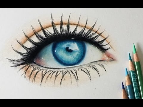 how i draw a realistic colored eye youtube