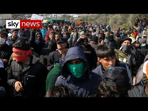 Migrants clash on Greek island