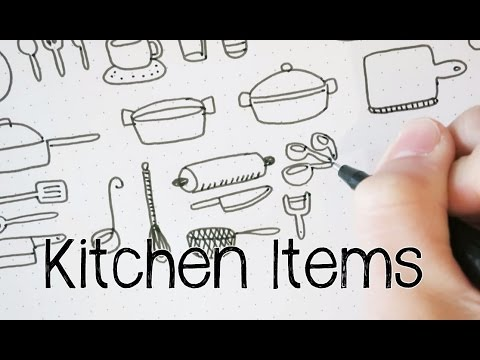 Doodle Kitchen Items | Doodle with Me