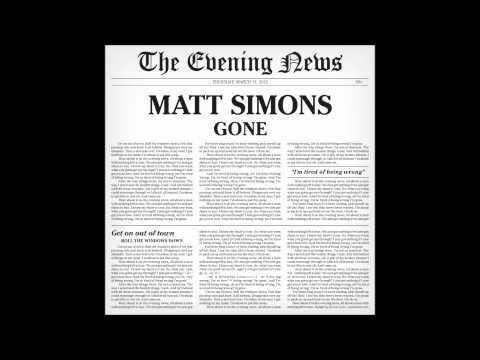 Gone - Matt Simons (Audio Only)