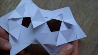 sliceform - papercraft - triangles (George Hart) - tutorial - dutchpapergirl