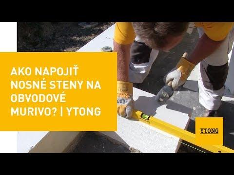 Ako Napojiť Nosné Steny Na Obvodové Murivo? | Ytong