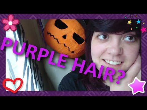 DYING MY HAIR PURPLE FOR MY NEXT COSPLAY!
