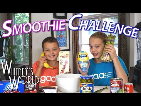 SMOOTHIE CHALLENGE | Whitney and Blakely