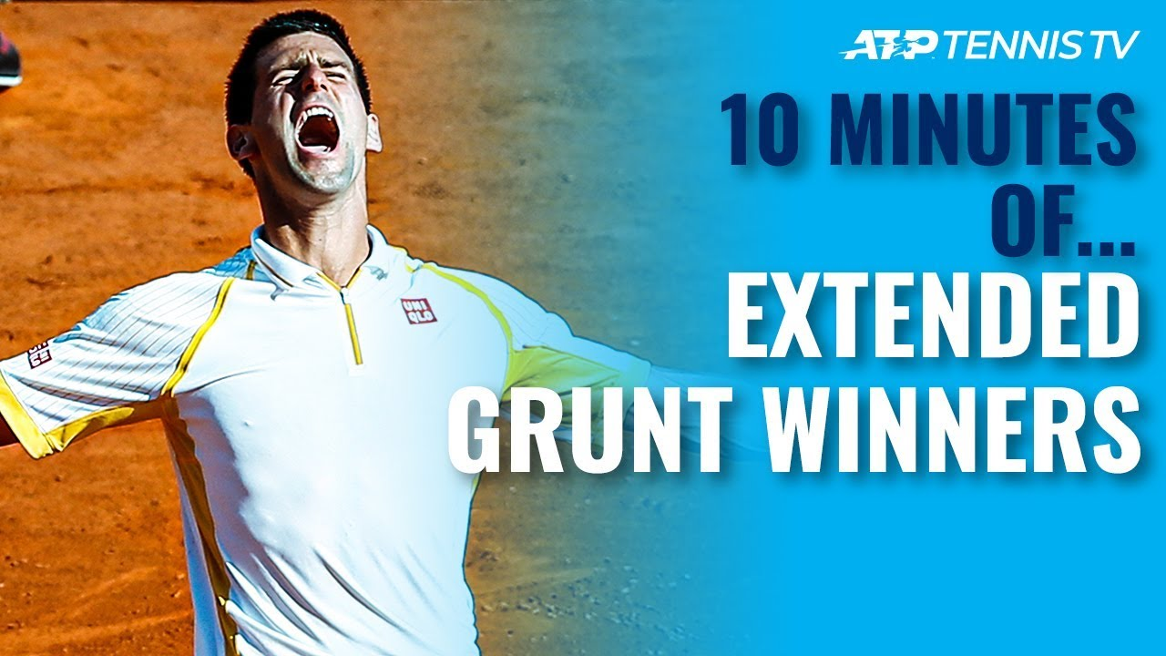 10 Minutes of: Extended Grunt ATP Tennis Winners