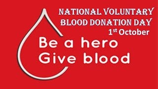 National Voluntary Blood Donation Day 2015