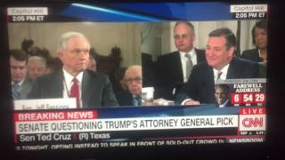 BLACK LIVES MATTER attack senator Jeff sessions during his confirmation hearing