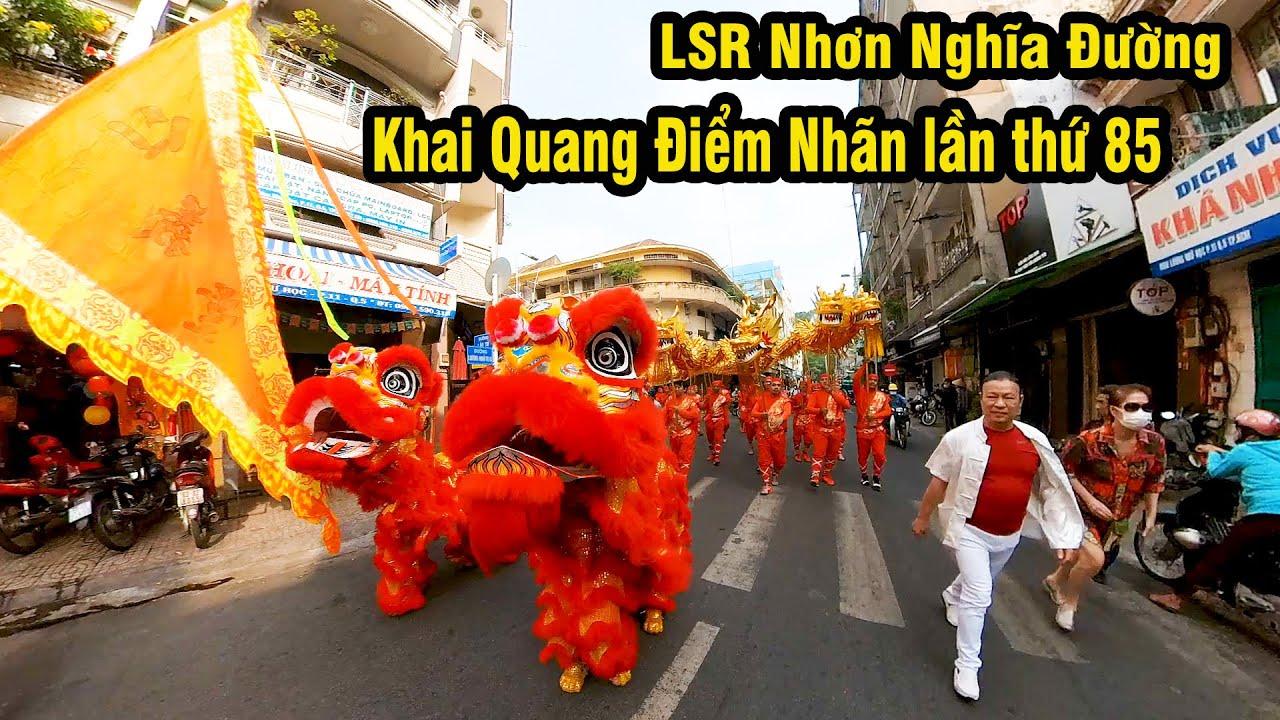 Múa Lân Nhơn Nghĩa Đường 2021 / Khai Quang Điểm Nhãn Lân Sư Rồng LSR