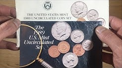 UNITED STATES 1989 UNCIRCULATED COIN SET || PHILADELPHIA & DENVER MINT MARKS