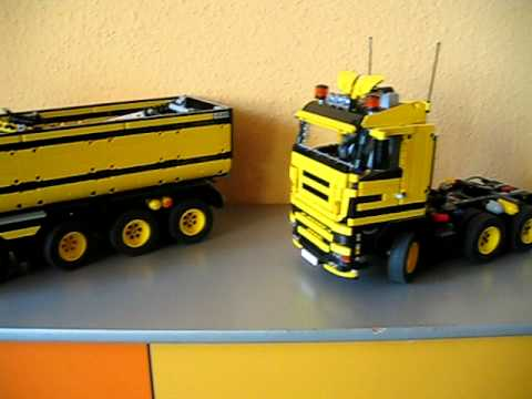 ein teil meine lego technic sammlung lego bagger lkw s. Black Bedroom Furniture Sets. Home Design Ideas