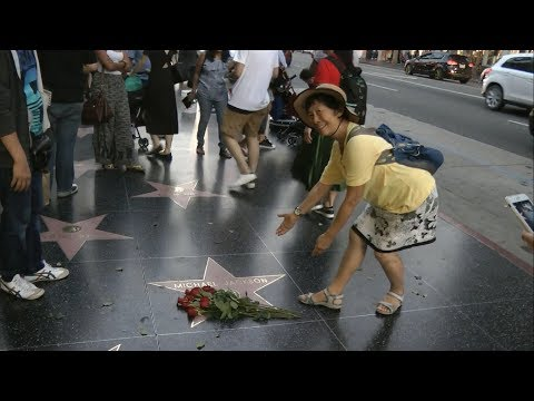 Los Angeles - Hollywood Boulevard - Michael Jackson's Star - 12.10.2017