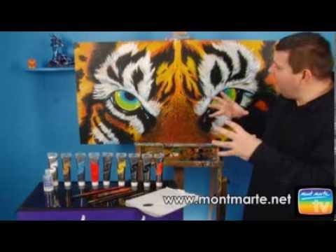 Art Lesson: How to Paint a Tiger Portrait Using Acrylic Paint