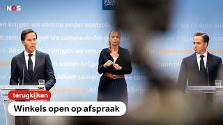 TERUGKIJKEN: Persconferentie Rutte en De Jonge: het is ongelooflijk spannend