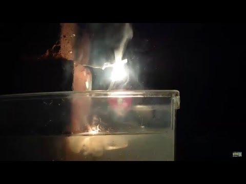 Magnesium Dripping Into Water