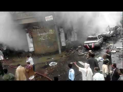 Aftermath of bomb in Sana'a