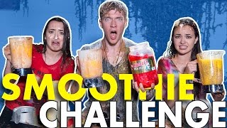 I do the Smoothie Challenge w/ The Merrell Twins (super gross smoothies - gotta drink it all) 50000 THUMBS UP for another COLLAB with the Merrell Twins!